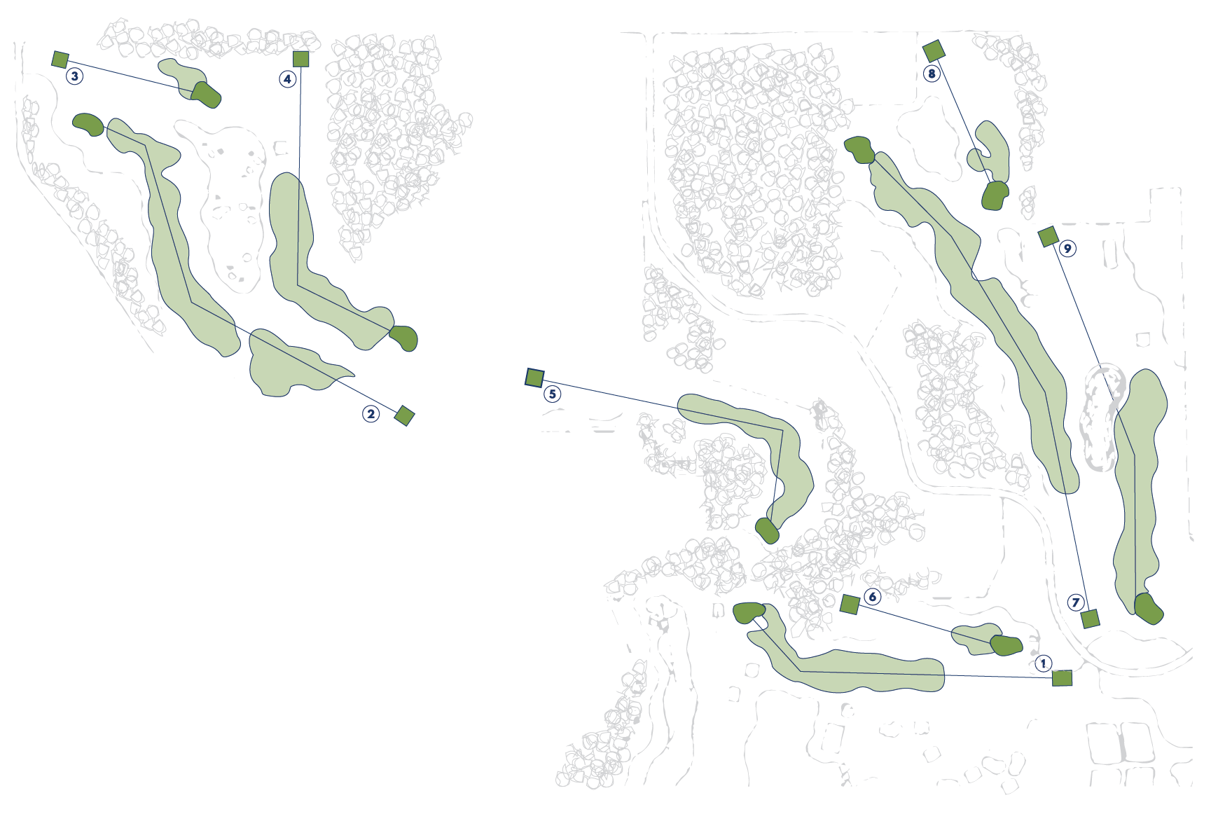 Quit Qui Oc Golf & Restaurant Glacial Nine Course Map
