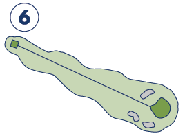 Quit Qui Oc Golf and Restaurant Map Hole 6